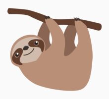 Cute Sloth on a Branch Kids Clothes