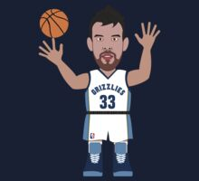 NBAToon of Marc Gasol, player of Memphis Grizzlies by D4RK0