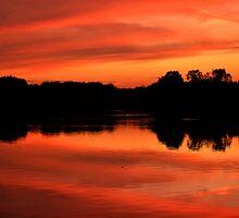 Langold Lake Sunset October 2012 Landscape  by skid