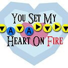 You Set My Heart On Fire - Bolero of Fire Valentine&#x27;s Card by VRex