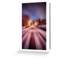 High St. Snow Greeting Card
