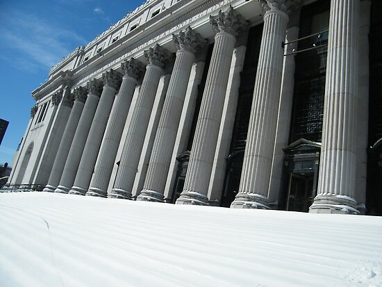 Classic General Post Office After a Snow, New York City by lenspiro
