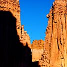 Fisher Towers with climbers, Utah by Claudio Del Luongo