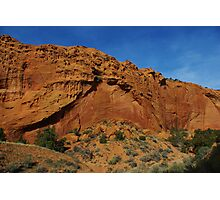 Beautiful red rock wall on Burr Trail Road, Utah Photographic Print