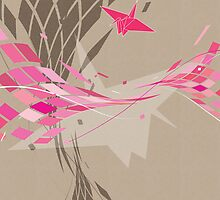 Flight in Pink Gradients by moonberry