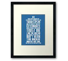 The Doctor Tardis Framed Print