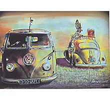 Bus N Bug Photographic Print