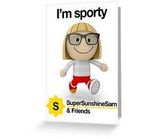 Super Sunshine Sam & Friends - Anna Greeting Card