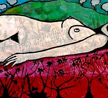 "Nude in a Landscape 1 -  Mixed Media by Belinda ""BillyLee"" NYE (Printmaker)"