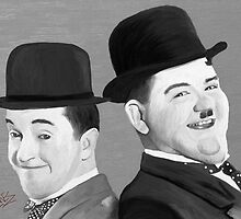 Laurel and Hardy by artbyjames