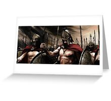 Spartans 3 Greeting Card