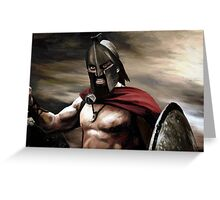 Spartan 1 Greeting Card