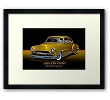 1950 Chevrolet Fleetline Custom w/ ID Framed Print