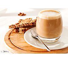 Cortado and Biscuits Photographic Print