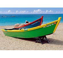 CaribbeaN Fishing Boats Photographic Print
