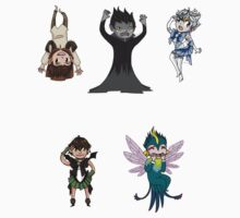 Guardians and Hiccup Sticker Set by RandomDraggon