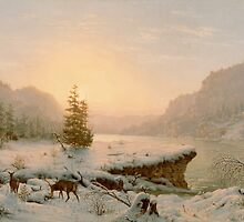Winter Landscape, 1878  by Bridgeman Art Library