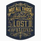 Tolkien Typography - STICKER (blue) by MiniMoose