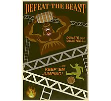 Defeat the Beast Photographic Print
