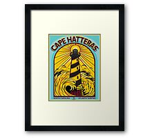 CAPE HATTERAS NORTH CAROLINA SURFING Framed Print