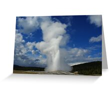 Old Faithful Geyser, Yellowstone Greeting Card