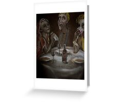 Saturday Night Out for Tea Greeting Card
