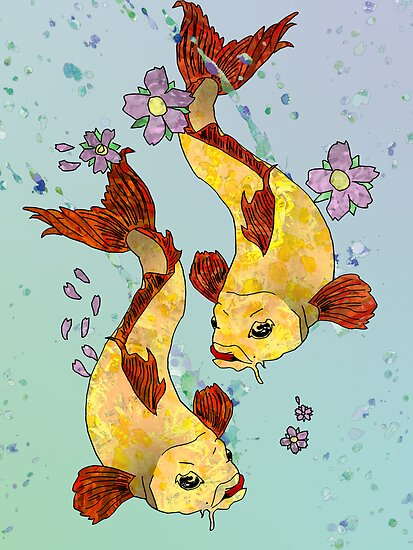 Two (Koi) Fish by Ali Choudhry