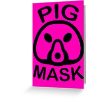 Pigmask (Black) Greeting Card