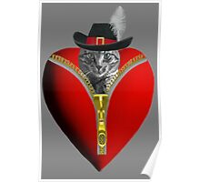<º))))>< ¸¸.♥➷♥•*¨ GO AHEAD UNZIP YOUR PURRFECT VALENTINE¸¸.♥➷♥ <º))))>< •*¨  Poster