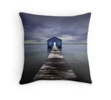 The Blue Boatshed Throw Pillow