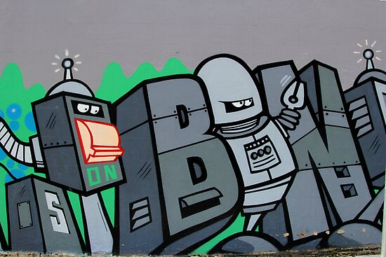Street Art: global edition # 43 - Futurama by fenjay