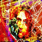 Kurt Cobain - Fractured by MSRowe Art and Design