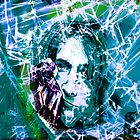 Kurt Cobain - Fractured Blue by MSRowe Art and Design