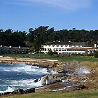 The 18th Hole At Pebble Beach by BarbaraSnyder