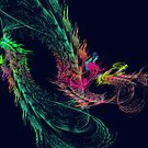 Fractal - Winged Dragon by Susan Savad
