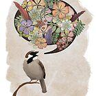 Sparrow Singin' by emuhleeks