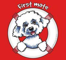 Bichon Frise :: First Mate by offleashart