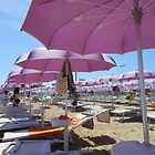 Pink Umbrellas of Amalfi by journeyart