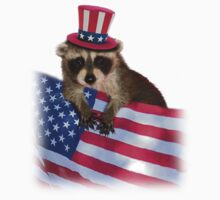 Patriotic Raccoon by jkartlife