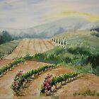 Tuscan Vineyard by journeyart