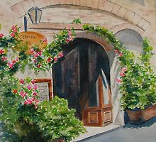 Osteria Doorway by journeyart