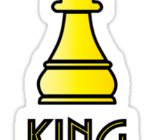 The King (Chess) Simple Graphic Sticker