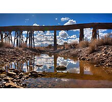 Bridge Over Not Really Very Troubled Waters Photographic Print