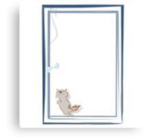 Happy kitten Canvas Print