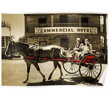 Horse and buggy at Wilberforce Poster