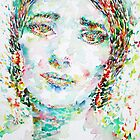 MARIA CALLAS -watercolor portrait by lautir