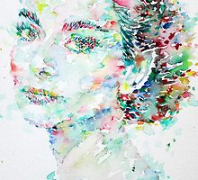 AUDREY HEPBURN - watercolor portrait.2 by lautir