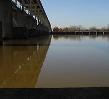 Lock and Dam at Pine Bluff, Ark USA by WildestArt