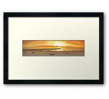 Henley Beach Panorama- 2 Framed Print