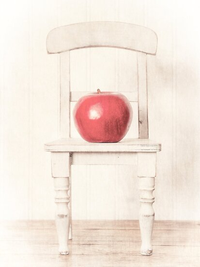 Romantic Still Life Apple and Doll Chair by Edward Fielding